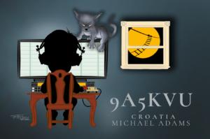 9A5KVU QSL Card Image
